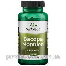 Экстракт Бакопа Монье, Swanson, Bacopa Monnieri Extract, 250 мг, 90 капсул