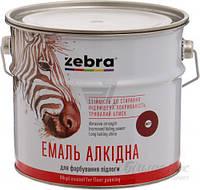 Эмаль алкидная для пола ПФ-266 Акварель Зебра 887 красно-коричневый глянец 2,8кг