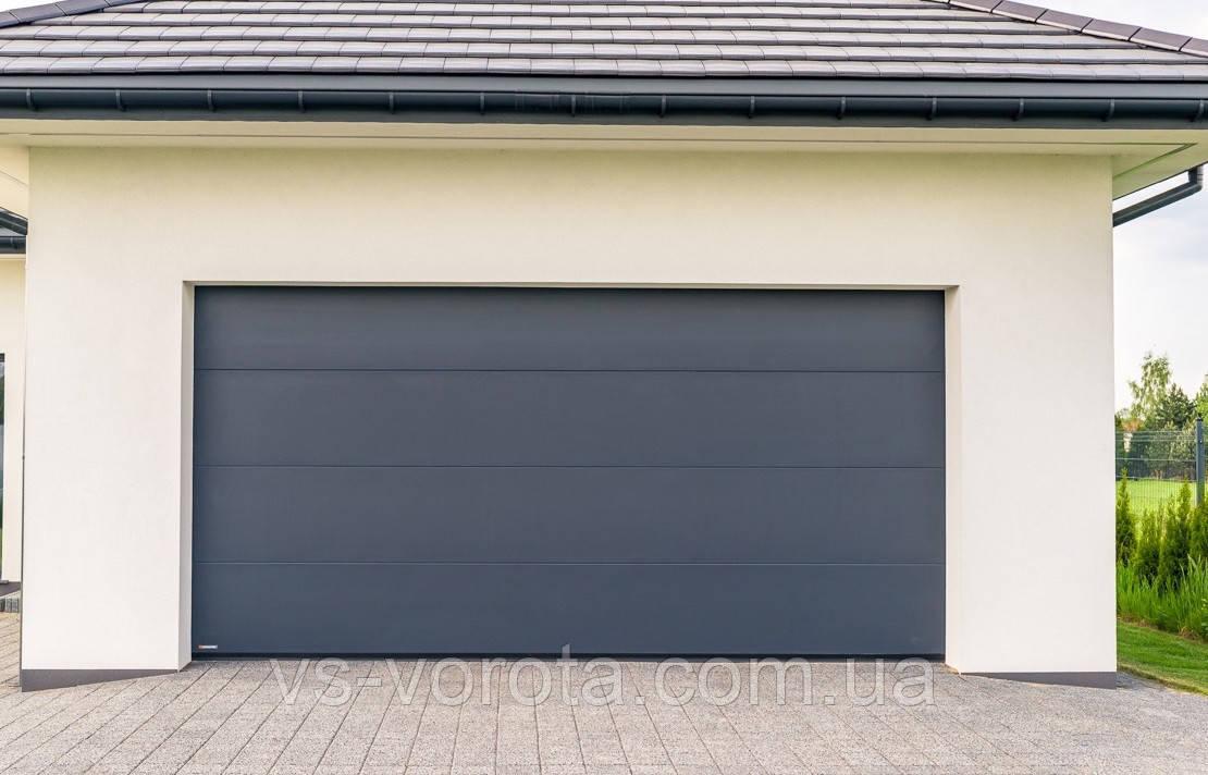 Ворота Doorhan RSD 02 размер 3500х2200 мм - гаражные секционные Чехия