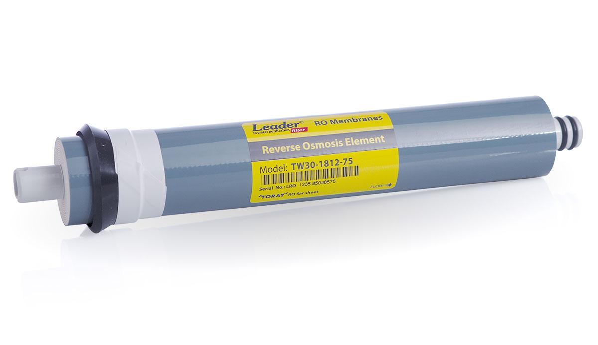 Мембрана обратного осмоса для бытовых фильтров воды Leader TW30-1812-75