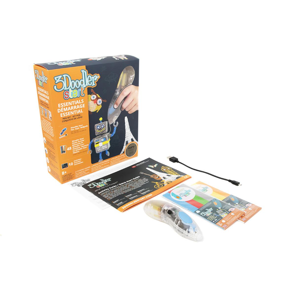 3D-ручка 3Doodler Start для детского творчества - Креатив прозрачная (8SPSESCL3R)