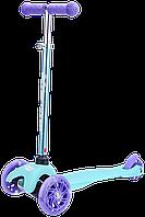 Самокат GO Travel mini, Аква, светящиеся колеса (SKBP304), фото 1