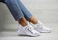 e770a37e1 В стиле Nike Air Max 270 x Suprem удобные белые демисезонные сетчатые женские  кроссовки.Качество