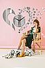 "Настенные 3D часы с зеркальным эффектом ""Love"" - 3Д часы наклейка, необычные часы стикеры 40х50 см, фото 2"