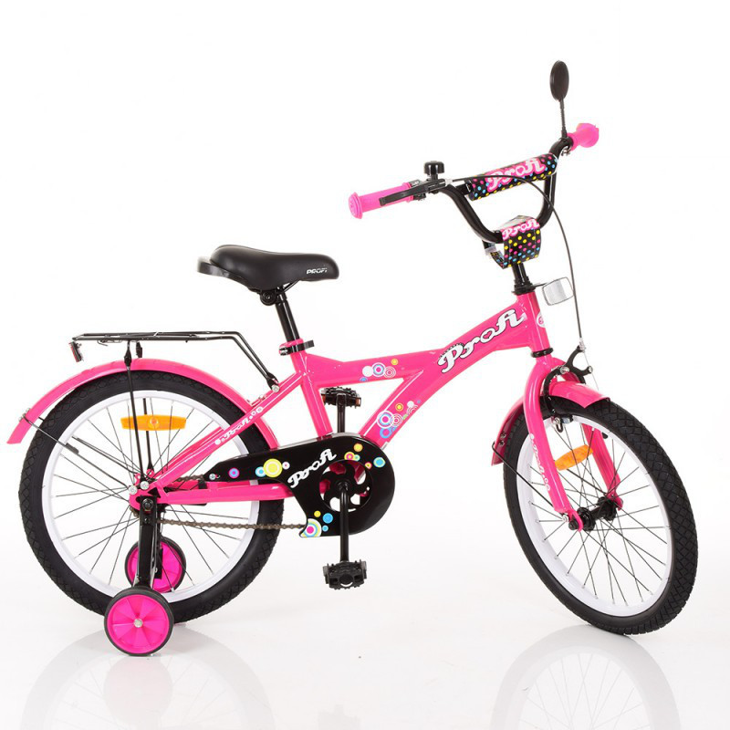 Детский двухколесный велосипед для девочки PROFI 18 дюймов, цвет розовый (малиновый), T1862 Original girl