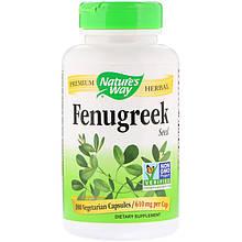 "Пажитник Nature's Way ""Fenugreek"" Seed, семена шамбала, 610 мг (180 капсул)"