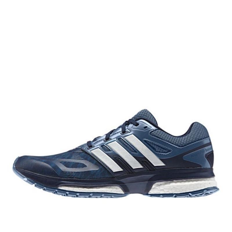 0fd68b9c Кроссовки мужские adidas Response Boost B26599 (синие, для бега, эластичные  тканевый верх,