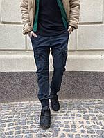 Джоггеры темно-синие с боковыми карманами (8923-15 Iteno)