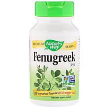 "Пажитник Nature's Way ""Fenugreek"" Seed, семена шамбала, 610 мг (100 капсул)"