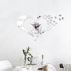"Настенные 3D часы с зеркальным эффектом ""Love"" - 3Д часы наклейка, необычные часы стикеры 40х50 см, фото 3"