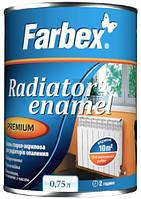Эмаль Farbex для радиаторов отопления белый глянец 0.75л
