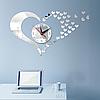 "Настенные 3D часы с зеркальным эффектом ""Love"" - 3Д часы наклейка, необычные часы стикеры 40х50 см, фото 4"