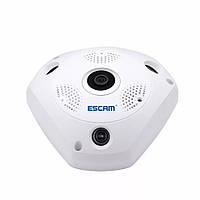IP камера Escam wifi QP180 960p Панорамная 360 градусов VR