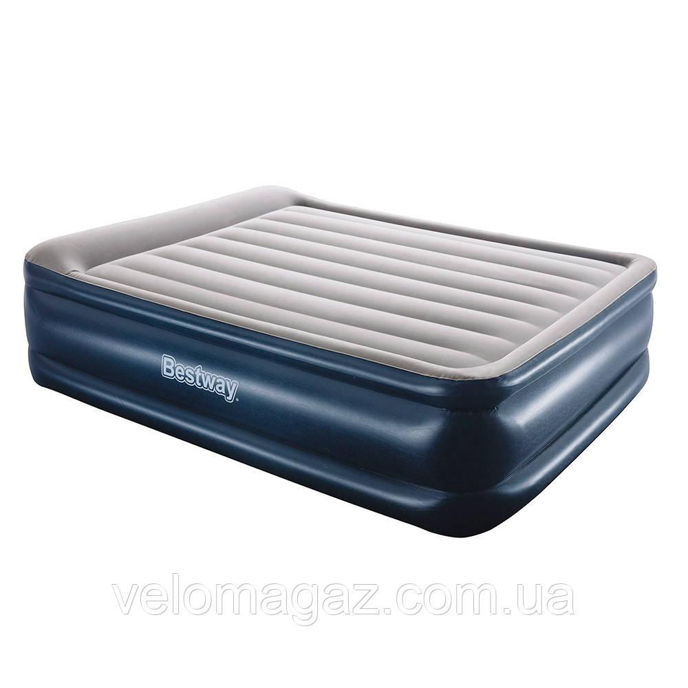 Надувная кровать двухспальная 203*152*56 см с встроенным насосом Intex 67614