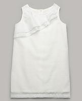 Легкое, белое летнее платье из хлопка для девочки