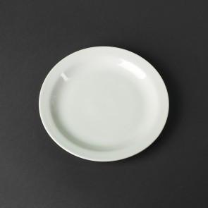 Тарелка пирожковая в оправе фарфоровая белая HLS 165 мм (HR1186)