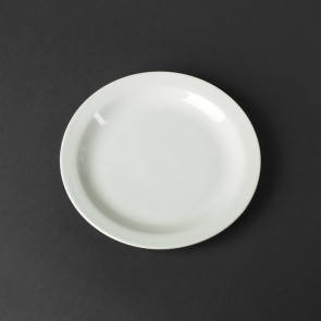 Тарелка пирожковая в оправе фарфоровая белая HLS 165 мм (HR1186), фото 2