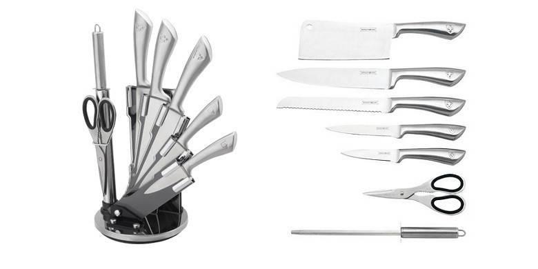 Набор металлических ножей на подставке Royalty Line RL-KSS600, фото 2