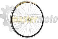 Обод велосипедный в сборе на 26 (зад, 36 спиц, дисковый тормоз,алюминий). Надпись может быть другой.