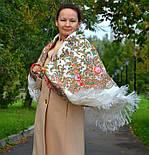 Весенний ручеек 1428-3, павлопосадский платок шерстяной с шелковой бахромой, фото 7