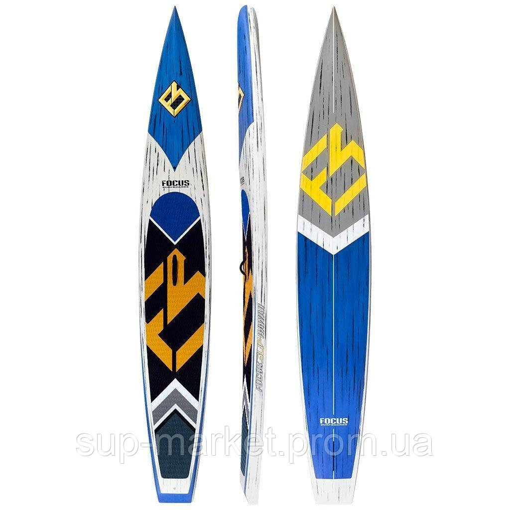 """SUP доска Focus 14'0"""" x 27"""" Cali Turbo Race Carbon Paddle Board, VST"""