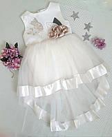 Платье нарядное Валентина, размер 2 года, молочный, фото 1