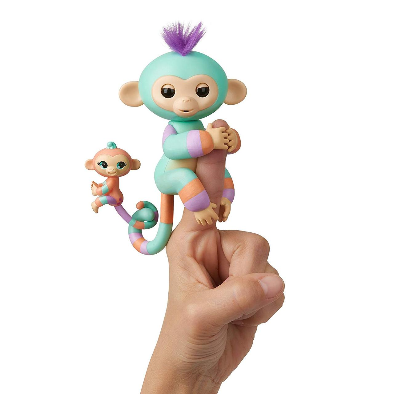 WowWee Fingerlings Интерактивная ручная обезьянка с малышкой Danny Gianna Baby Monkey Mini Оригинал!
