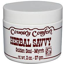 """Крем для проблемної шкіри Country Comfort """"Herbal Savvy"""" желтокорень і мірра (57 р)"""