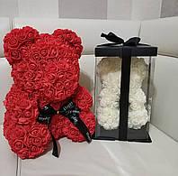 Мишка тедди из 3D роз в оригинальной упаковке, необычный подарок девушке, фото 1