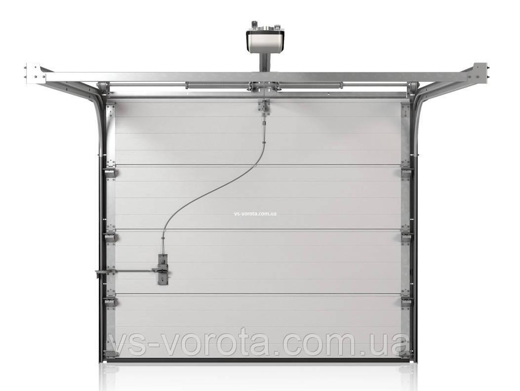 Ворота CLASSIC размер 3500х2200 мм - ALUTECH Белоруссия, гаражные секционные