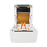 Принтер этикеток, термопринтер штрих кодов, QR кодов WodeMax WD-244D USB 104mm для Новой почты, фото 4