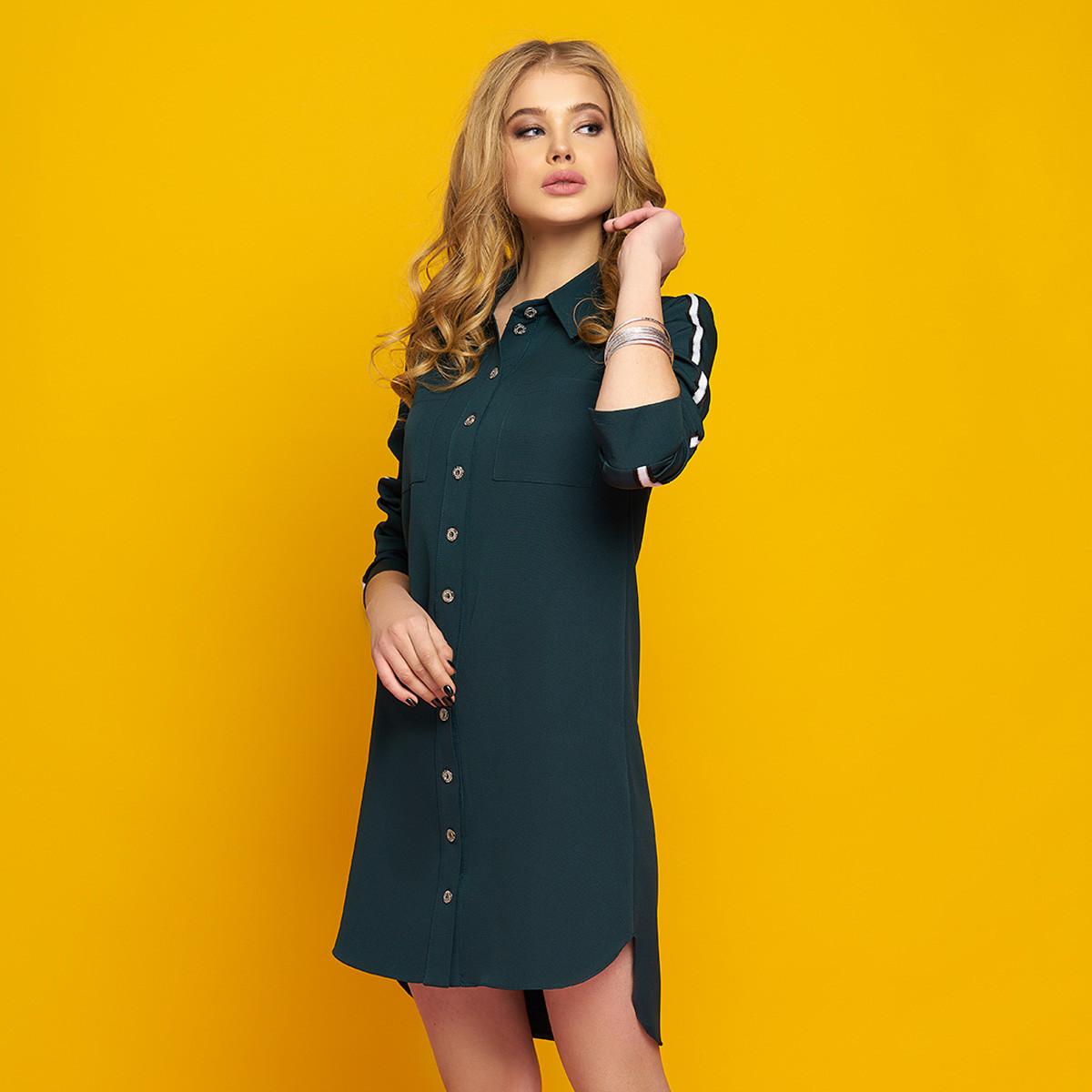 """Стильное молодежное платье-рубашка размер XL """"Элина"""""""