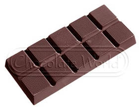 "Модуль для шоколада ""Плитка классическая"" 1х5 шт./84 г (117х50х11 мм), CW  Бельгия"