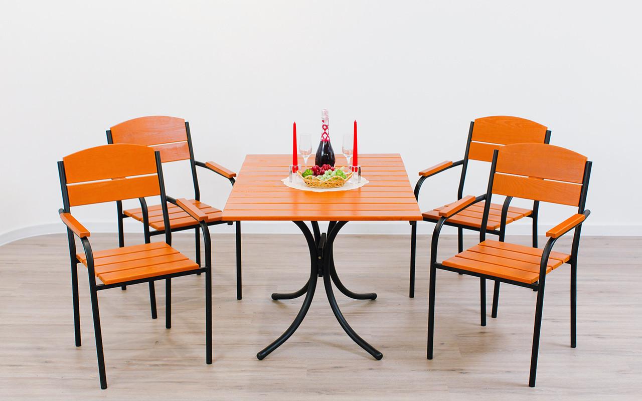 """Комплект мебели для кафе Микс-Лайн """"Фелиция"""" Тик(рыжий)"""
