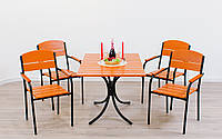 "Комплект мебели для кафе Микс-Лайн ""Фелиция"" Тик(рыжий), фото 1"
