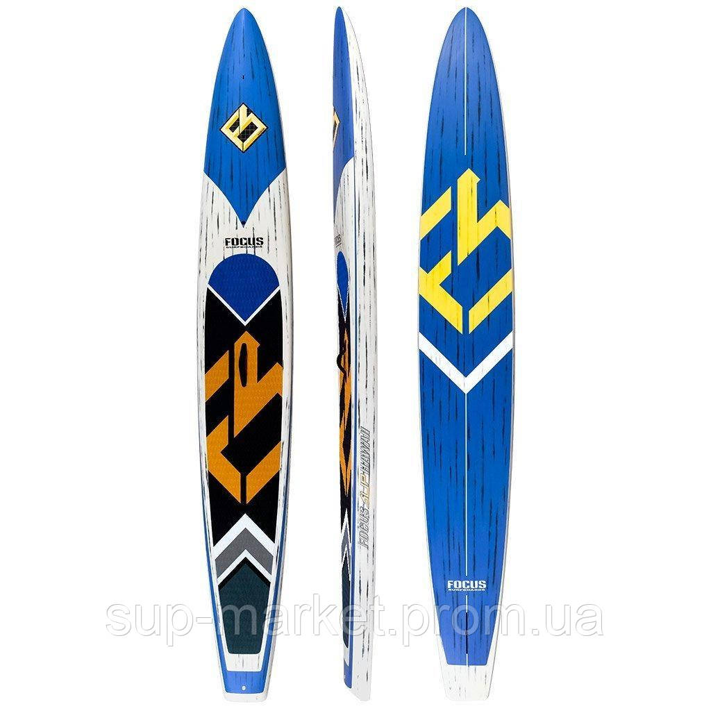 """SUP доска Focus BLUEFIN TURBO RACE CARBON PADDLE BOARD 14'0"""" Х 23""""1/2 ACT"""