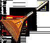 Граблі віялові Bradas 22 зубці, дерев'яний держак KT-CX22B