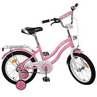 Детский двухколесный велосипед PROFI 16 дюймов для девочки Star розовый, Y1691