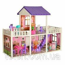 Домик 972 для кукол 2 этажа, мебель, кукла 2 шт, 21 см, 115 дет,