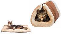 Коврик туннель для кошек 2 In 1 Kitty Shock Tunnel Bed Mat - 130757