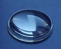 Линза стеклянная диаметр 30 х 10 мм скляна лінза для фокусируемых фонарей линзовиков