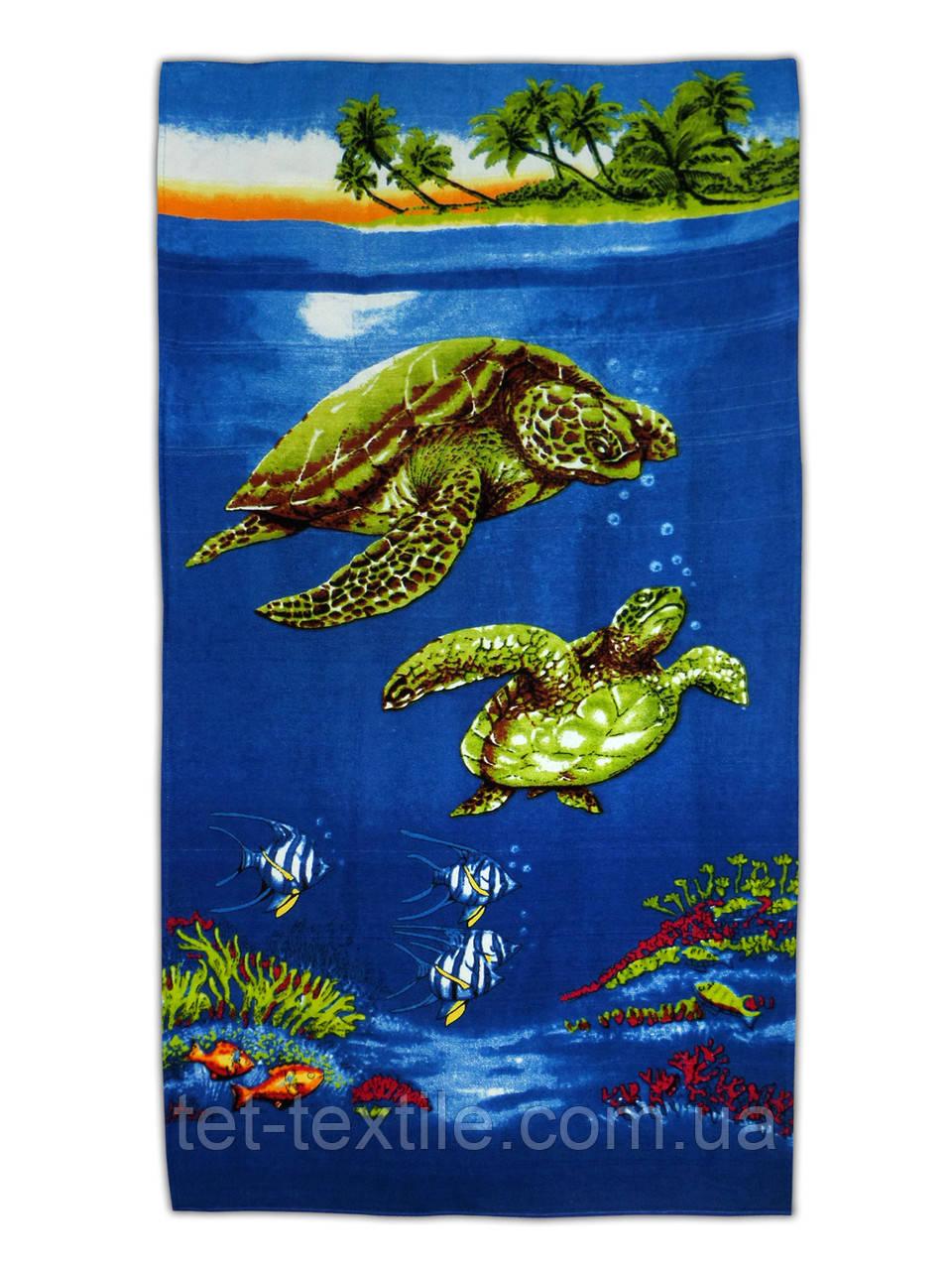 """Пляжное полотенце """"Черепахи"""" 70х140см."""