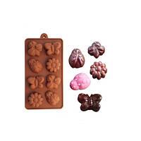 Силиконовая форма для шоколада и льда на 8 предметов