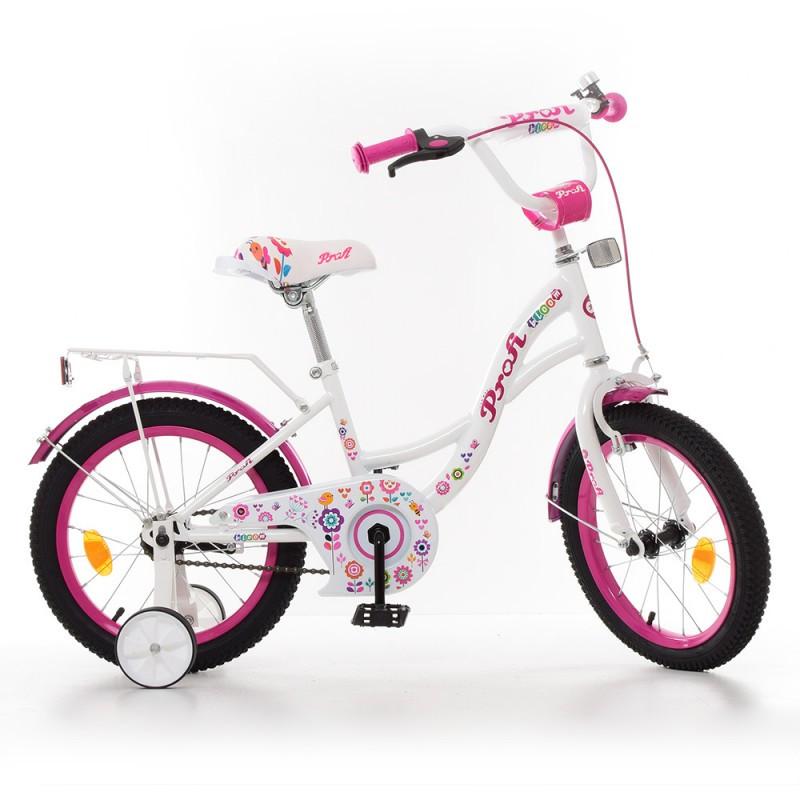 Детский двухколесный велосипед для девочкиPROFI 16 дюймов, Bloom Y1625