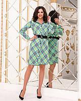 Женское платье-рубашка на поясе, фото 1