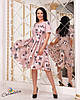 Красивое женское приталенное платье ниже колен 48, 50, 52, фото 3