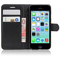 Чехол-книжка Litchie Wallet для Apple iPhone 5 / 5S / SE Черный