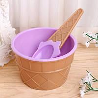 Мороженица с ложечкой Happy Ice Cream, креманка для мороженого, Фиолетовая, , Морозивниці, апарати для приготування морозива, Мороженицы, аппараты для