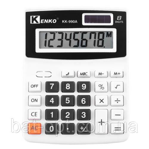 Калькулятор карманный Kenko KK-990A 8-разрядный (110х140х20мм)
