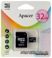 Apacer MicroSDHC 32GB Class 4 + SD Adapter (AP32GMCSH4-R)